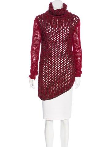 Helmut Lang Wool-Blend Open Knit Sweater None