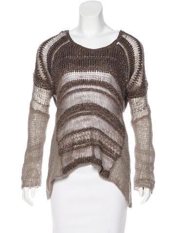 Helmut Lang Silk Knit Sweater None