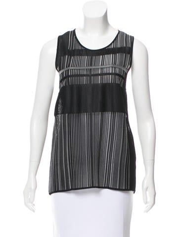 Helmut Lang Sleeveless Striped Top None