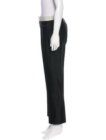 Mid-Rise Straight-Leg Pants