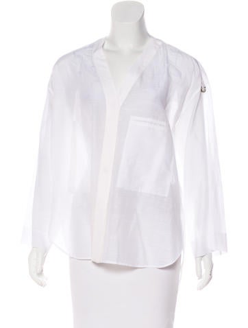 Helmut Lang Oversize Long Sleeve Top None