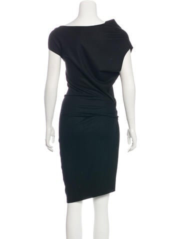 Wool Asymmetrical Dress