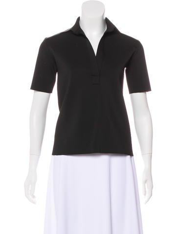 Helmut Lang Short Sleeve Collar Top None
