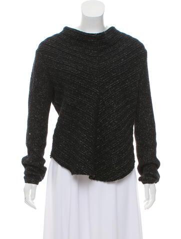 Helmut Lang Wool Rib Knit Sweater None