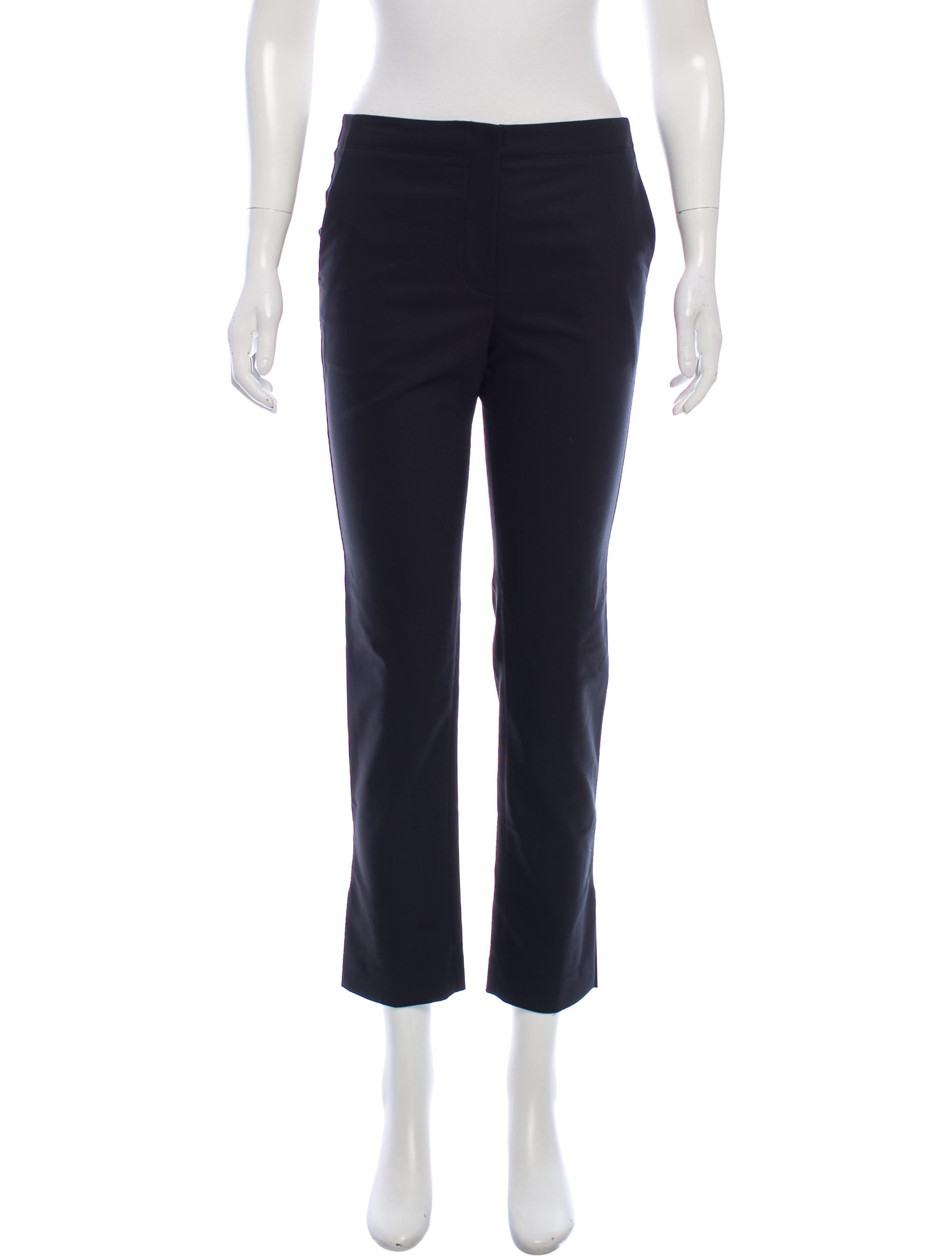 Helmut Lang High-Rise Straight-Leg Pants w/ Tags Buy Cheap Perfect Sale Latest Collections Fake Sale Online NHpack6Wx