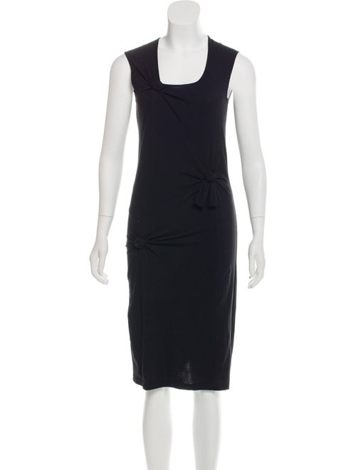 Helmut Lang Knot Detail Tank Knee-Length Dress Bla