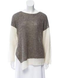 Colorblock Pattern Scoop Neck Sweater image 1