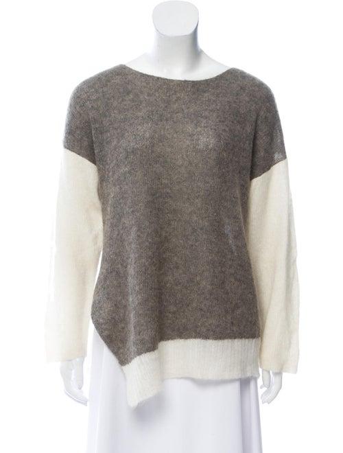 Colorblock Pattern Scoop Neck Sweater