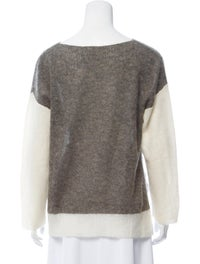 Colorblock Pattern Scoop Neck Sweater image 3