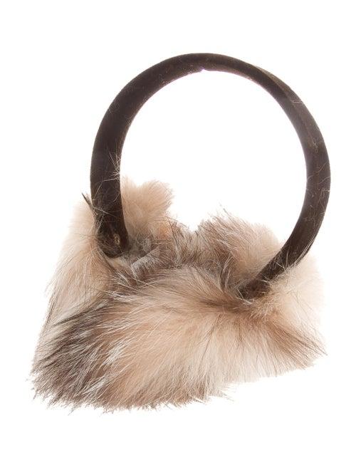 Henri Bendel Fur-Trimmed Velvet Earmuffs