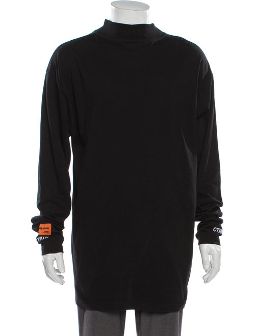 Heron Preston Turtleneck Long Sleeve Pullover Blac