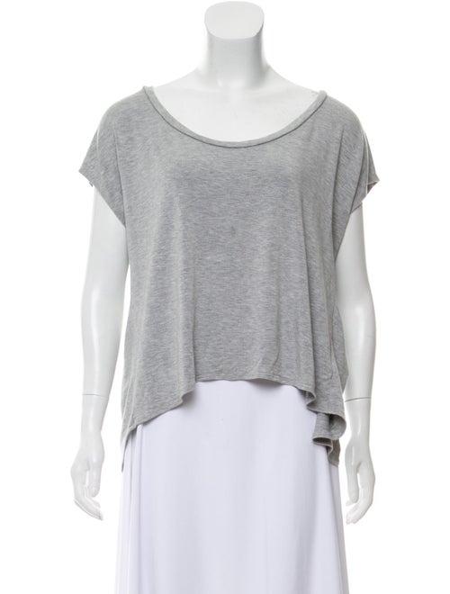 Bateau Neckline Short Sleeve T-Shirt