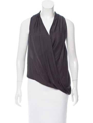 HELMUT Helmut Lang Sleeveless Draped Top None