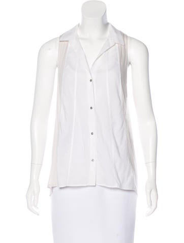 HELMUT Helmut Lang Sleeveless Button-Up Top None