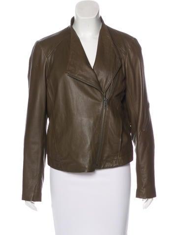 HELMUT Helmut Lang Leather Fleece-Lined Jacket None