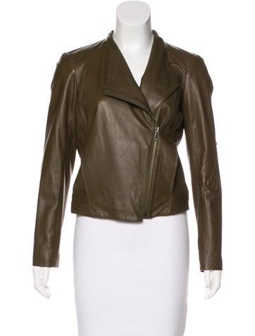 HELMUT Helmut Lang Fleece-Lined Leather Jacket None
