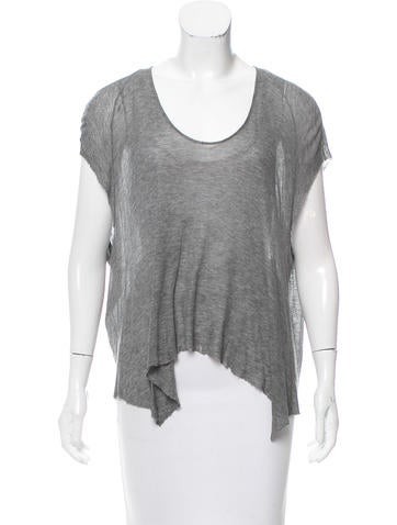 HELMUT Helmut Lang Distressed Knit Top None