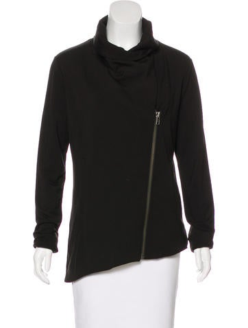 HELMUT Helmut Lang Helmut Lang Asymmetrical Zip-Up Sweatshirt None