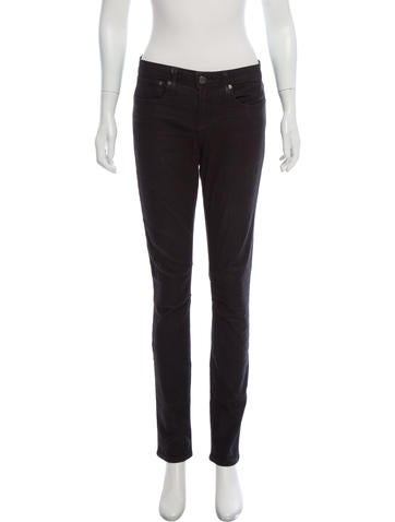 HELMUT Helmut Lang Mid-Rise Coated Jeans None