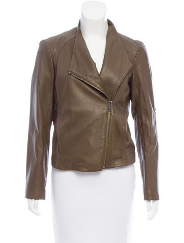 HELMUT Helmut Lang Asymmetrical Leather Jacket None