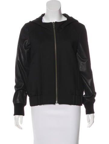 HELMUT Helmut Lang Leather-Trimmed Hooded Jacket None