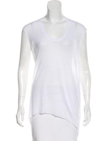 HELMUT Helmut Lang High-Low Sleeveless Top None