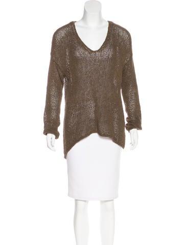HELMUT Helmut Lang V-Neck Knit Sweater None