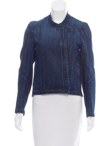 HELMUT Helmut Lang Denim Asymmetrical Jacket None
