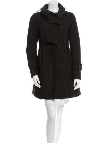 Mackage Leather-Trimmed Patterned Coat