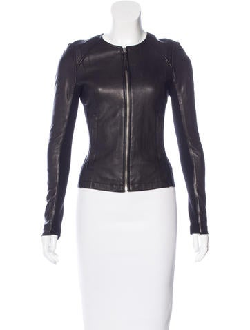 Mackage Leather Rib Knit-Trimmed Jacket None