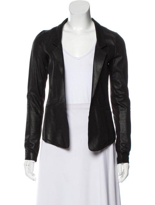 Mackage Lamb Leather Blazer Black