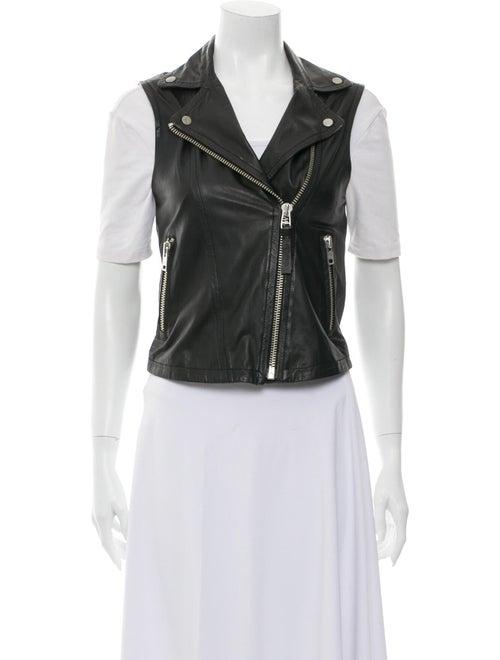 Mackage Leather Vest Black