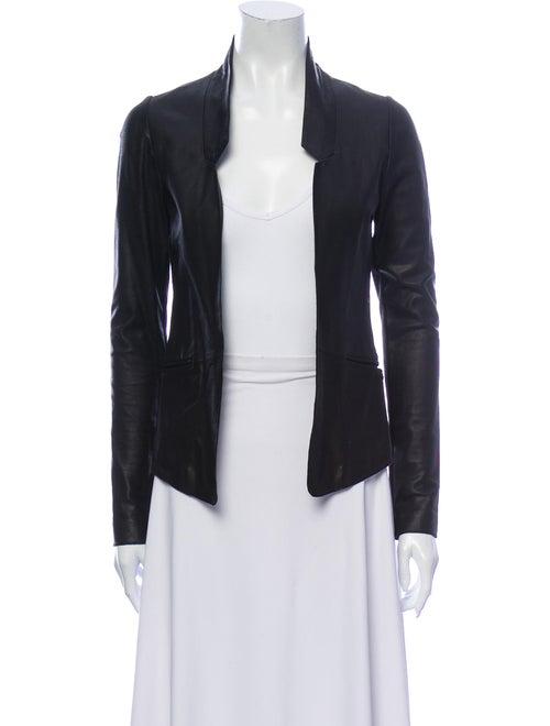 Mackage Leather Blazer Black