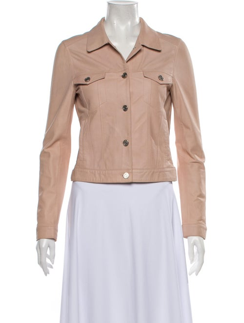 Mackage Lamb Leather Jacket Pink