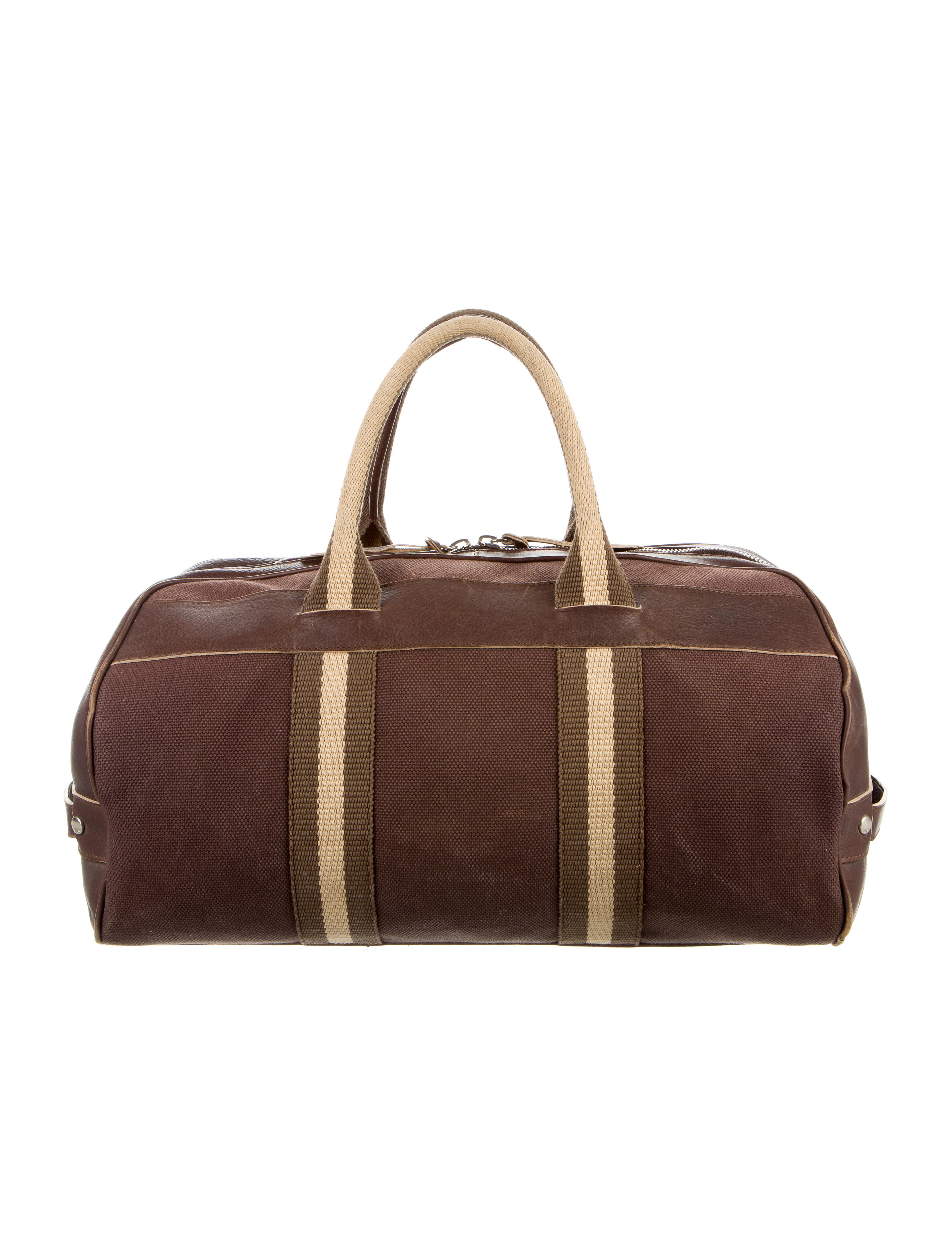 Canvas Duffle Bags With Leather Trim  e3b38fd61b5ca
