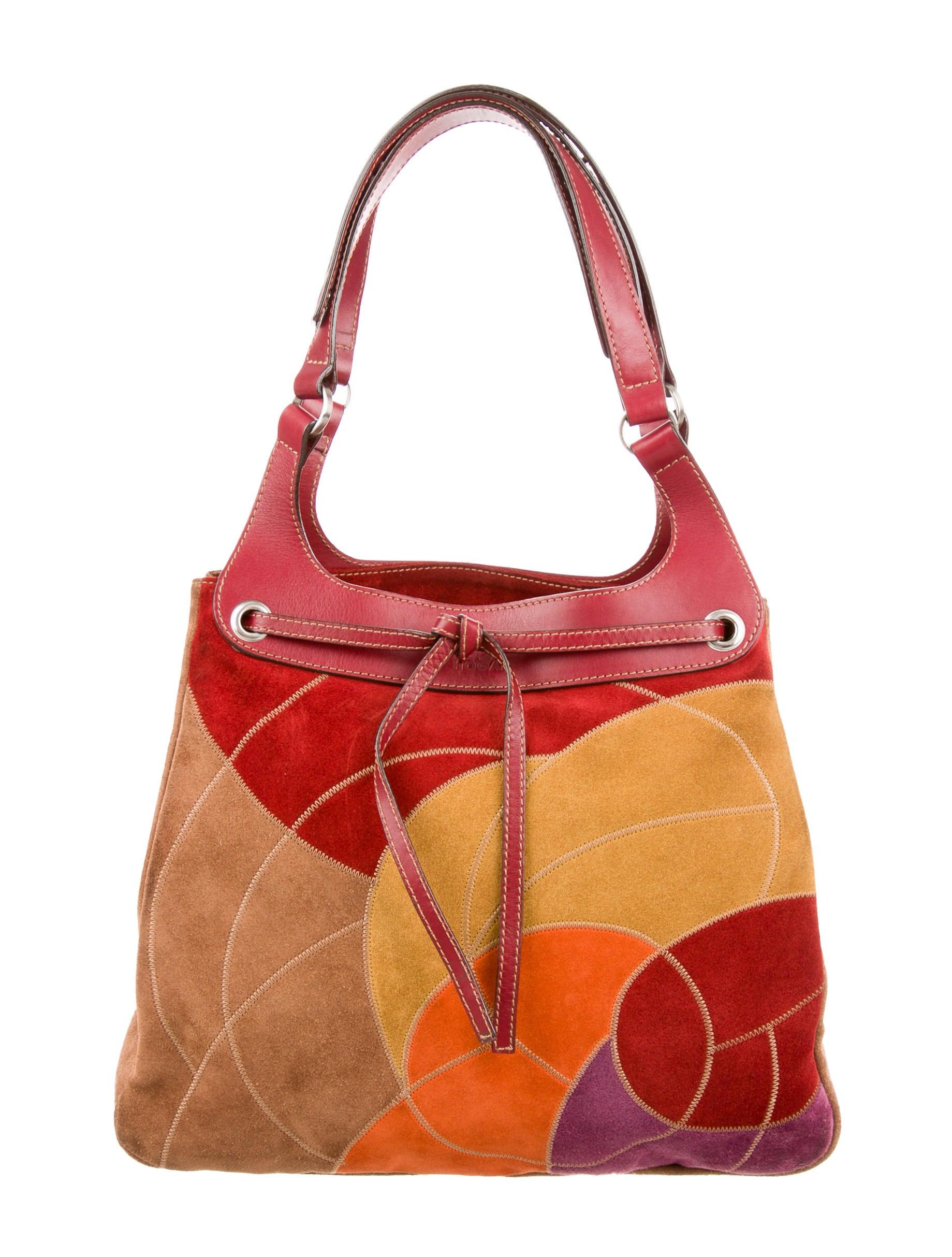 c038373077a Hogan Suede Patchwork Bag - Handbags - WHO20294   The RealReal