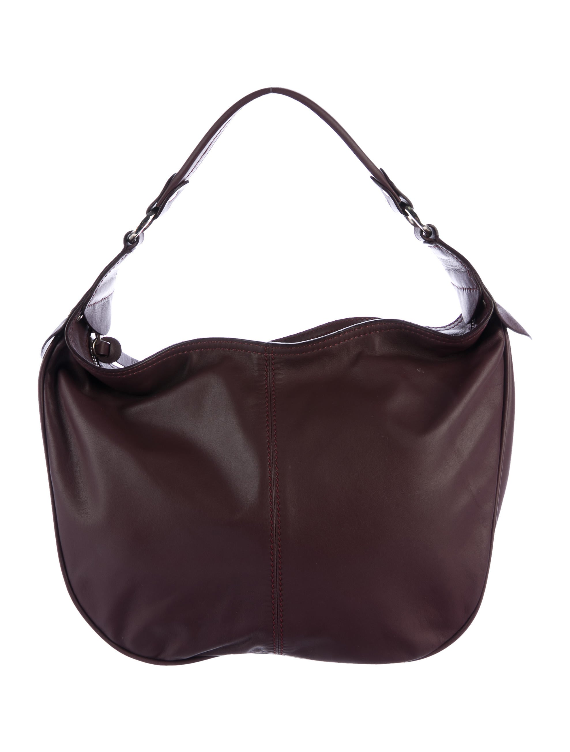 07bb718490a5 Hogan Walnut Leather Handle Bag - Handbags - WHO20416