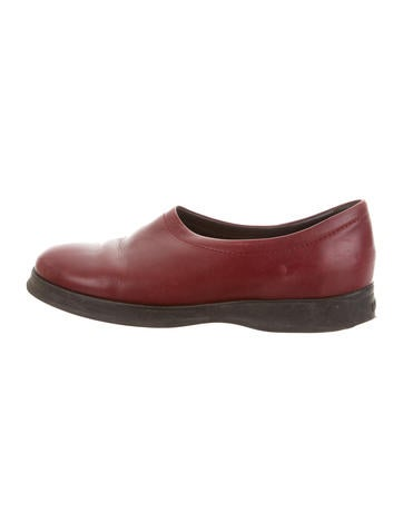 Hogan Leather Round-Toe Loafers None