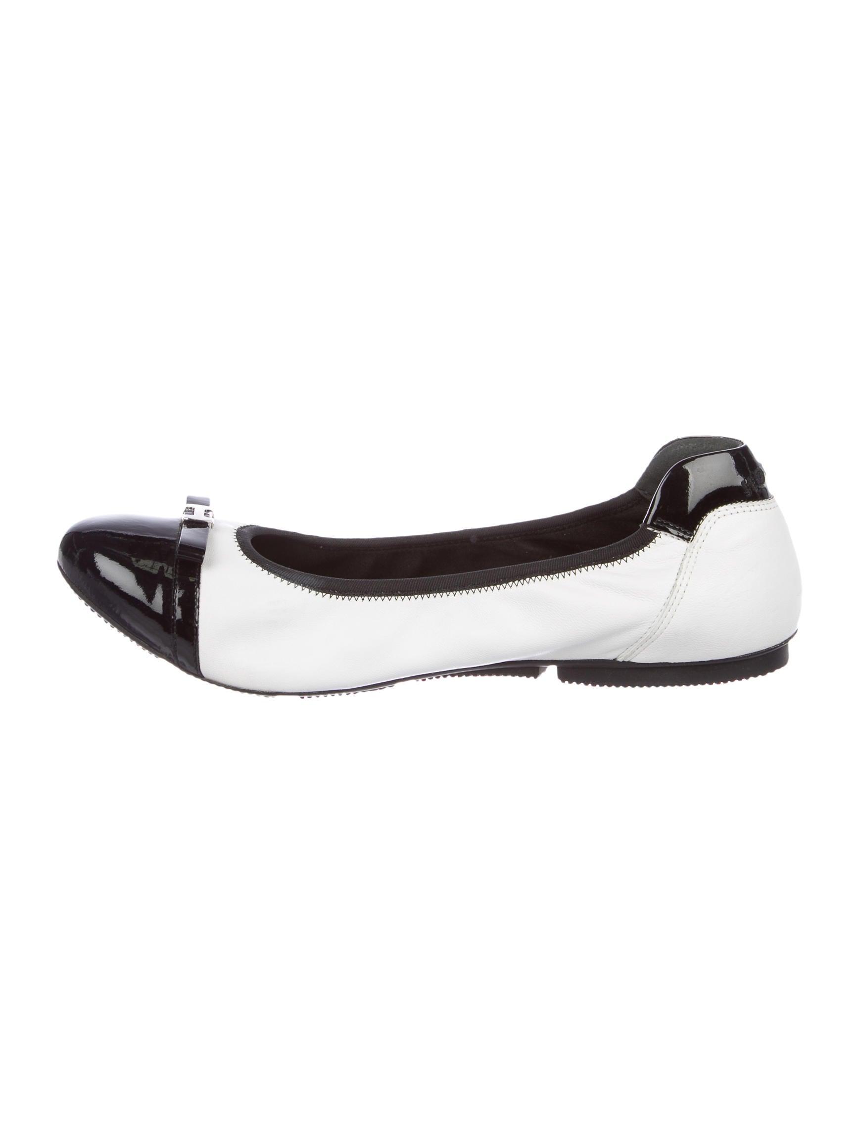Hogan Leather Cap-Toe Flats sale under $60 1fRfxcwjtz