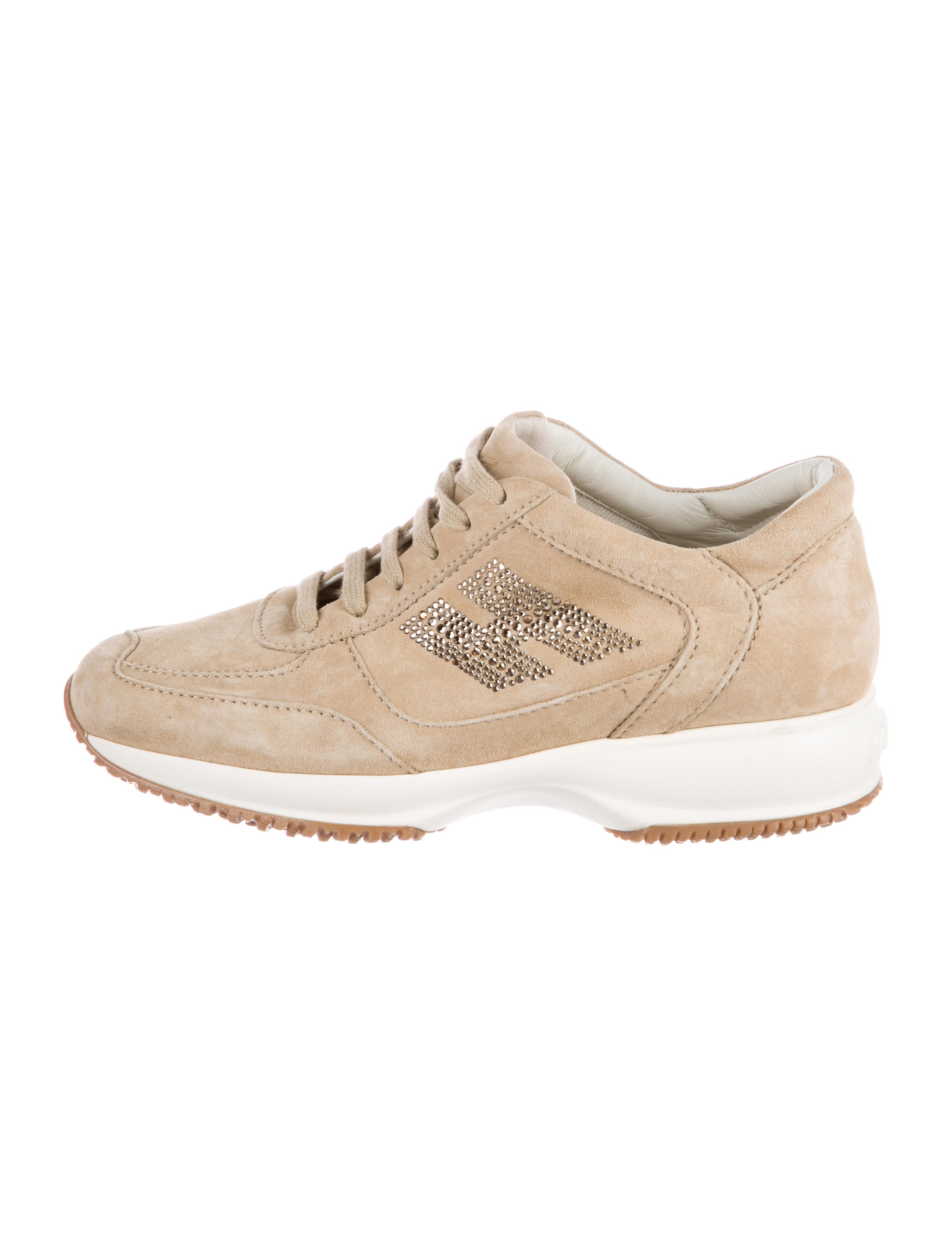 Hogan Suede Embellished Sneakers discount low shipping fee outlet pay with visa OylPr