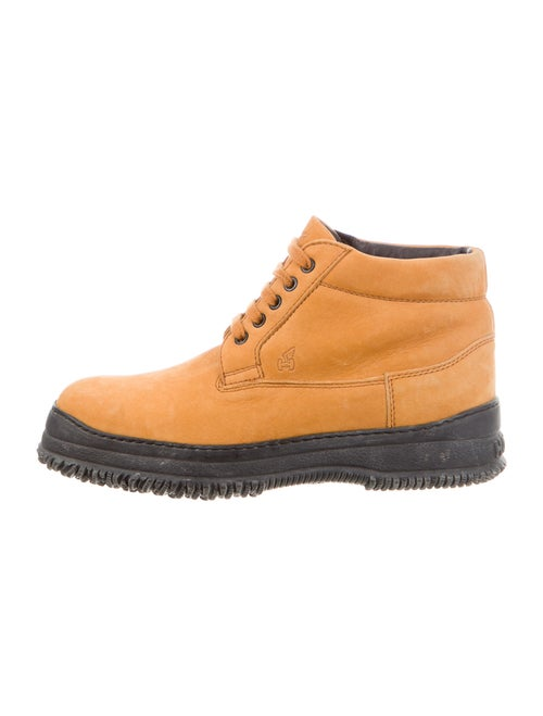 Hogan Nubuck Lace-Up Boots
