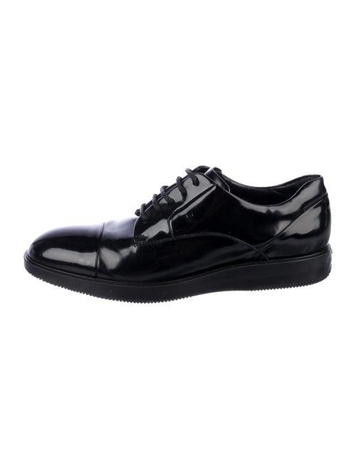Hogan Patent Leather Derby Shoes Black