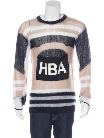 Hood by Air Mohair-Blend Knit Sweater None