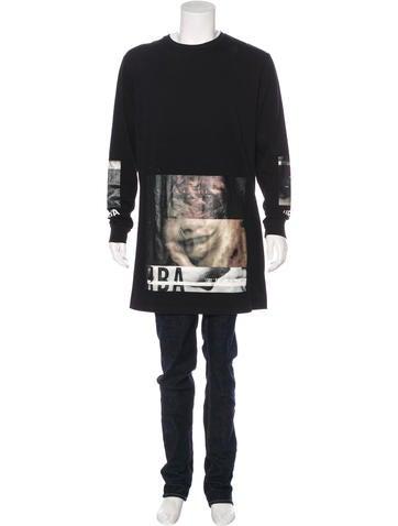 Hood by Air Graphic Print Long Sleeve T-Shirt None