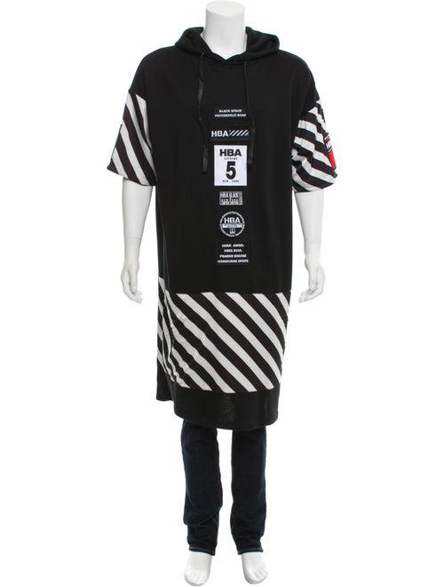 Hood by Air Longline Patchwork Sweatshirt black