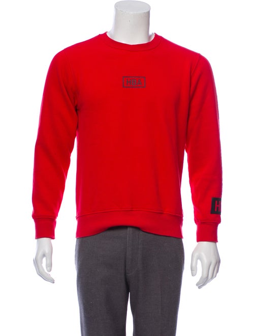 Hood by Air Graphic Logo Sweatshirt red