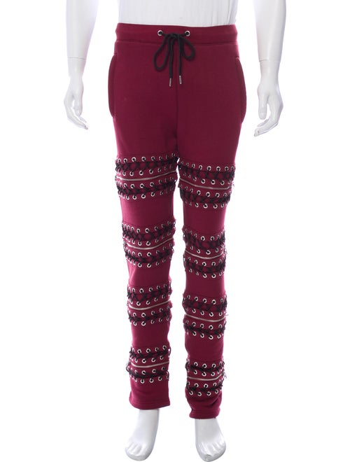 Hood by Air Drawstring Knit Joggers red