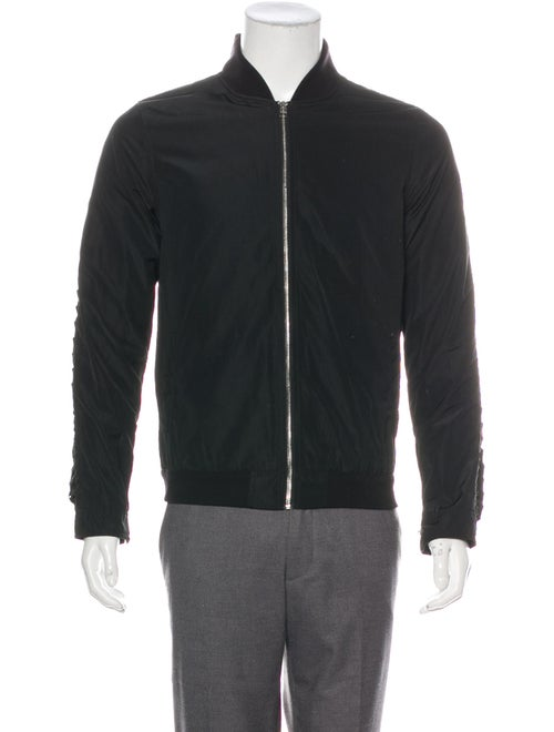 Hood by Air Lace-Accented Bomber Jacket black