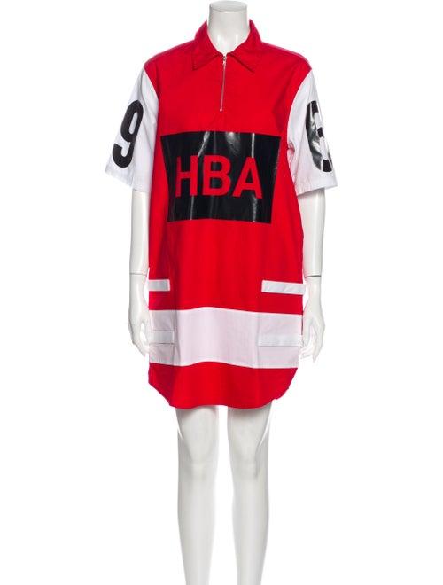 Hood by Air Printed Mini Dress Red