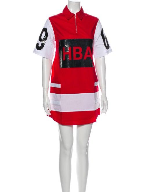 Hood by Air Graphic Print Mini Dress Red